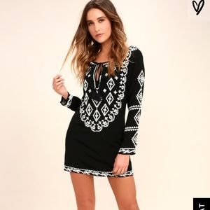 Black Boho Lulus Dress